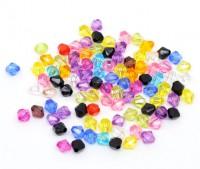 Mixte Perles Toupies Acrylique   6mm.....Taille du trou 1 mm  X 50