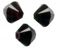 Perles toupies  Acrylique  Noir 4 mm.....Taille du trou 0.8 mm  x 100