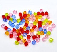 Mixte Perles  toupies Acrylique  4mm.....Taille du trou 0.8 mm  X 100
