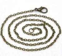 Colliers Fermoir Mousqueton Couleur bronze 2x3mm 41cm