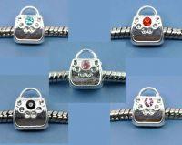 Mixte Perles bélière Sac Strass pour Bracelet  11x9mm X 10