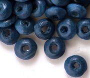 800 Perles en bois Rondelle bleu 3x6mm