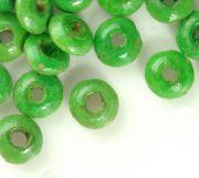 Perles en bois Rondelle vert 3x6mm taille du trou = 1.6 mm X 800