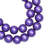 Enfilade de Perles Nacrées   Violet 8mm  X 110