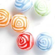 Mixte Perles Fleur Acrylique  7.5x7.5mm  X 120