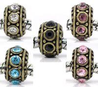 Mixte Perles Spacer Strass pour Bracelet Charm  11x5.8mm X 10