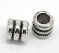Intercalaires Rayure 7x7mm taille du trou = 4.5 mm X 10