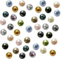 Mixte Couleurs Perles Nacrées  rondes  4 mm  X 50 Perles