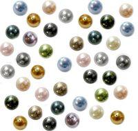 Mixte Couleurs Perles Nacrées  Rondes 6 mm  X 50 Perles