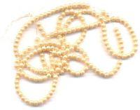 Perles Nacrées  Rondes Dorées Léger 4mm  x 100