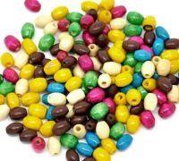 800 Mixte Perles en bois Rondelle 3x6mm  taille du trou = 1 mm