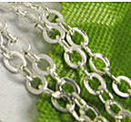 Chainette maille  argent ep: 2 mm