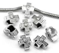 Intercalaires Croix pour Bracelet/Chaîne 12x10mm X 2