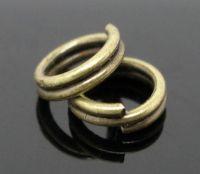 Anneaux Double Ouverts Couleur Bronze 5mm  X 100