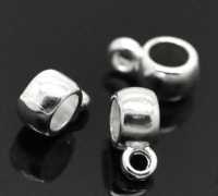 Bélières argentées  Pour Bracelet   9x4mm X 4