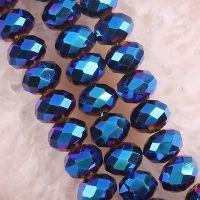 Perles dark sapphire  8 x 6 mm X 70