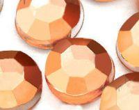 Strass Acrylique Facette Orange Ronde 3mm  X 1000