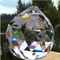 Boules rondes crystal , pendant  20 mm X 1