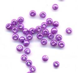 Perles rondes en verre 4 mm  x 200