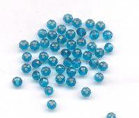 Perles rondelles blue zircon 4 mm  x 200