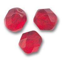 PERLES FACETTES DE BOHEME 6mm 25 perles LIGHT SIAM