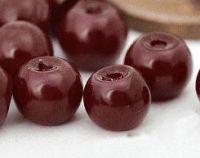 Perles nacrées  burgundy rondes 4mm X 50