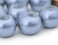 Perles Nacrées Rondes bleu pastel 4mm   x 50