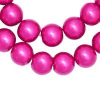 Perles Nacrées  Rondes Rouge Rose  10mm  X 20