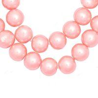 Perles Nacrées  Rondes Rose  8mm  X 25