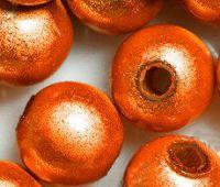 Perles Magiques Miracles Rondes  Orange  6mm  X 20