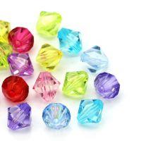 Mixte Perles toupies  Acrylique 12 mm   Taille du trou 1.4 mm  X 10