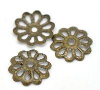 Coupelles Fleur Ciselure Couleur Bronze 8mm X 20
