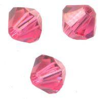 Toupies en cristal 4 mm fuschia X 100