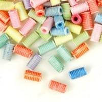 Mixte Perles Tube Acrylique 7x3.5mm  X 100