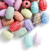 Mixte Perles Tube Acrylique  8x5mm  X 100