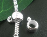 Bélière Lisse Argenté Acrylique   11x8mm Taille de trou:bélière:2.1mm perles: 5.2mm X 20