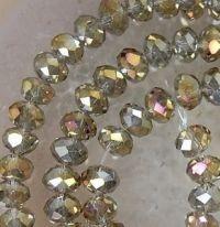 Perles black diamond ( gris ) 8 x 6 mm X 70