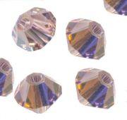 Toupies en cristal 4 mm light ametyst AB X 120