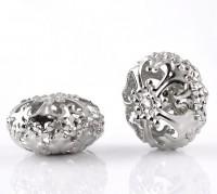 Perles  ovales Filigrane  23mm  X 5