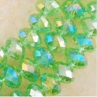 Perles de cristal 4x6mm vert X 98