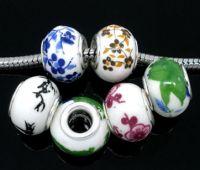Mixte Perles Céramique pour Bracelet Charms 13x10mm X 10