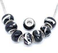 Perles verre Noir  10x14mm X 10