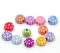 Mixte Perles intercalaire Fleur Acrylique 6mm  X 50