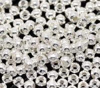 Perles a ecraser Argenté Lisse Ronde 3mm...taille du trou = 1 mm X 1000