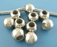Perles  Rondes Lisses   9mm...taille du trou 4.5 mm X 10