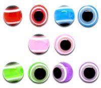 Mixte Perles  Résine Rondes 10mm  taille du trou = 2 mm X 20