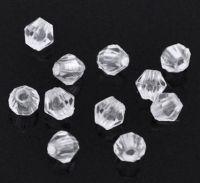 Perles Toupies 4 mm  Acrylique crystal Taille du trou 0.8 mm  X 2000