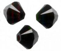 Perles Toupies 4 mm Acrylique noires Taille du trou 0.8 mm  X 2000