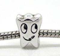 Perles Etoile pour bracelet/chaîne 12x10mm X 5