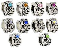 Mixte Perles  Strass pour Bracelet   12x8mm  ....taille du trou = 5.6 mm X 10